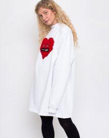 Lazy Oaf Zippy Heart White M/L