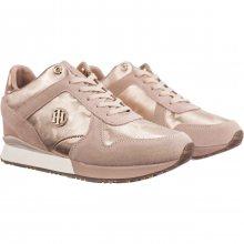 Tommy Hilfiger pudrové tenisky Camo Metallic Wedge Sneaker Mahogany Rose - 36