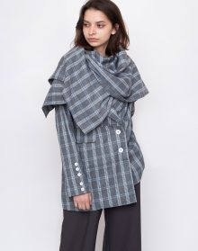 House of Sunny Heritage Scarf Tailored Jacket Academic Check 34