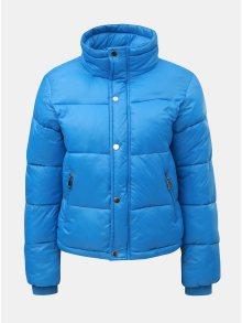 Modrá prošívaná puffa krátká zimní bunda TALLY WEiJL