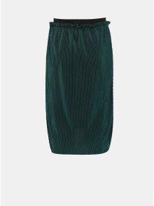 Tmavě zelená holčičí lesklá plisovaná sukně LIMITED by name it