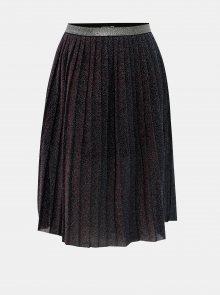 Černá holčičí třpytivá plisovaná sukně Name it