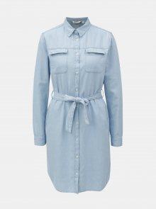 Světle modré košilové šaty Dorothy Perkins