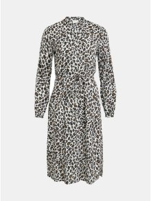 Bílé leopardí košilové šaty VILA Kamia