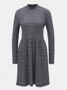 Šedo-modré pruhované šaty VERO MODA
