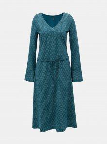 Petrolejové šaty s véčkovým výstřihem Tranquillo Ostara