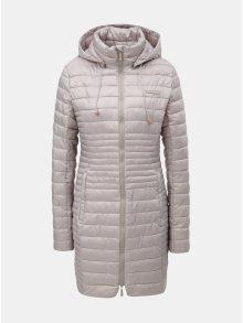 b1890121ad Béžový dámský prošívaný voděodpudivý kabát s odnímatelnou kapucí LOAP Jomana