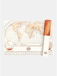 Růžovo-bílá magnetická mapa Luckies Magnimap