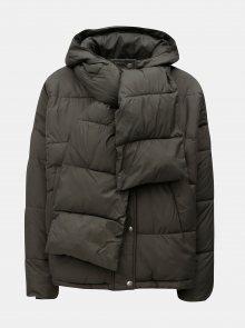 Khaki zimní bunda s odepínatelnou šálou VERO MODA