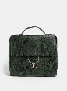 Zelená kabelka s hadím strukturovaným vzorem VERO MODA Minna