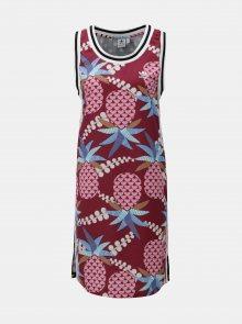 Modro-vínové vzorované šaty adidas Originals