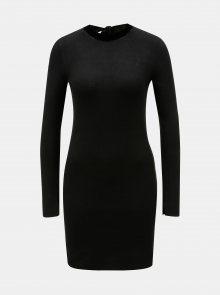 Černé svetrové šaty s dlouhým rukávem Dorothy Perkins