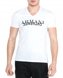 Triko Armani Exchange   Bílá   Pánské   L