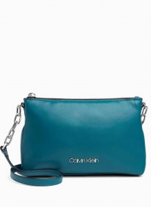 Calvin Klein petrolejová kabelka Fold Ew Crossbody