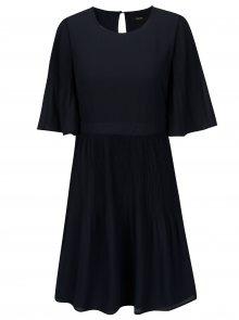 Tmavě modré šaty s 3/4 rukávem VERO MODA Amanda