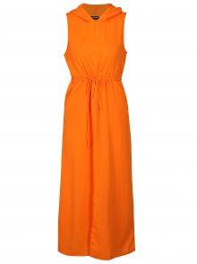 Oranžové maxišaty s kapucí Noisy May Josephine
