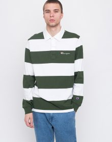 Champion Long Sleeve Polo T-Shirt BAF/WHT L