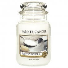 Yankee candle Vonná svíčka ve skle - dětský pudr, 623g\n\n
