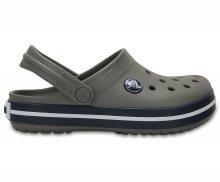 Crocs šedé dětské boty Crocband Clog Kids Smoke/Navy - C7