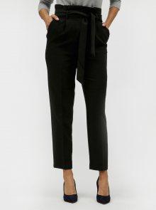 Černé kalhoty se zavazováním VILA Charlotte