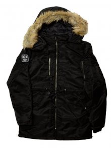 Bunda Black Big Fur Parka černá 3XL