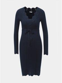 Tmavě modré těhotenské svetrové šaty Mama.licious Eva