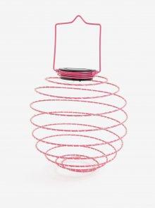 Růžová LED solární dekorace Kaemingk