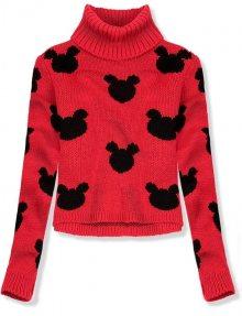 Červený krátký svetr Mickey