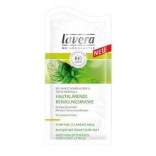 Lavera Hloubková čisticí maska Bio Máta, sůl z mrtvého moře & minerální jíl (Purifying Cleansing Mask) 2 x 5 ml