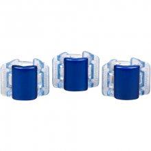 Linziclip Malý skřipec MINI 3 ks - perleťově modrý