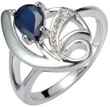 Silvego Stříbrný prsten s přírodním safírem DESIRÉ FNJR0673 52 mm