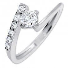 Brilio Silver Pěkný zásnubní prsten 426 001 00435 04 - 1,65 g 52 mm