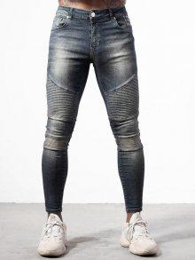Džíny Blue DENIM Moto Biker Jeans modrá W28/L32