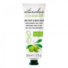 Naturalium Pečující krém na ruce, nohy a tělo s olivovým olejem (Hand, Foot & Body Cream) 50 ml