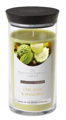 Country Candle Vonná svíčka ve skleněné dóze Limetka, bazalka a mandarinka (Lime, Basil & Mandarin) 630 g