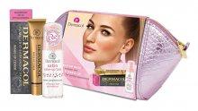Dermacol Satin podklad pod make-up 30 ml + make-up Cover SPF30 30 g 207 kosmetická taštička dárková sada