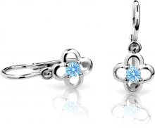 Cutie Jewellery Dětské náušnice C1944-10-X-2 světle modrá