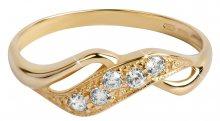 Brilio Zlatý prsten s krystaly 229 001 00125 59 mm