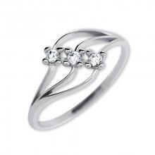 Brilio Dámský prsten s krystaly 229 001 00546 07 - 1,35 g 53 mm
