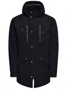 ONLY&SONS Pánská bunda Klaus Parka Winter Jacket Noos Black M