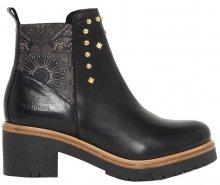 Desigual Dámské kotníkové boty Shoes Biker Blackstuds Negro 18WSAL08 2000 36