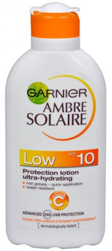 Garnier Opalovací mléko Ambre Solaire SPF 10 (Protection Lotion Ultra-Hydrating) 200 ml