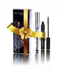 FacEvolution Dárková sada dekorativní kosmetiky pro péči o řasy a obočí 2 ml + 6 ml - světlá