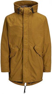 Jack&Jones Pánská bunda Jornew Bento Parka Jacket Gold Brown S