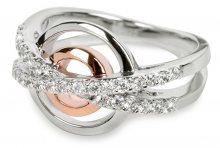 Silver Cat Stříbrný prsten s krystaly SC025 52 mm