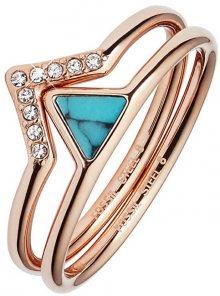 Fossil Luxusní sada dvou prstenů JF02645791 58 mm
