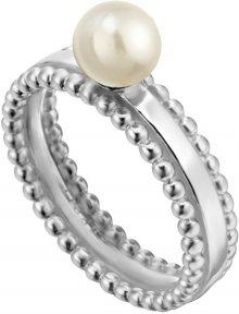 Esprit Stříbrný prsten se syntetickou perlou Powder ESRG002011 57 mm