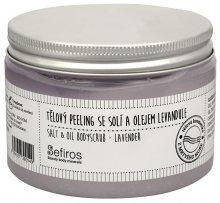 Sefiros Tělový peeling se solí a olejem Levandule (Salt & Oil Bodyscrub) 300 ml
