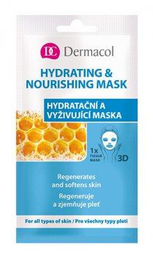 Dermacol Textilní hydratační a vyživující maska pro všechny typy pleti 3D (Regenerates Softens Skin) 1 ks