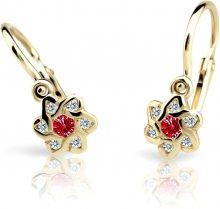 Cutie Jewellery Dětské náušnice C2149-10-X-1 červená